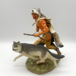 Franklin Mint WOLF RUNNER Native Ameri